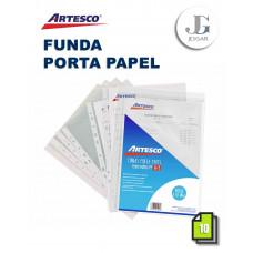 Funda Porta Papel A-4 X 10 Polipropileno Artesco
