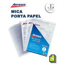 Mica Porta Papel Classic A-4 X 10 PVC Artesco