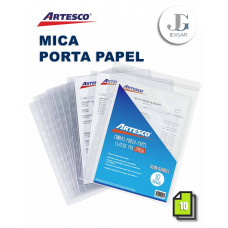 Mica Porta Papel Classic Oficio X 10 PVC Artesco