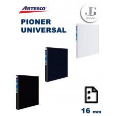 Pioner Universal A-4 / 2A 16mm Negro Blanco Azul Artesco