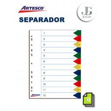 Separadores Index Numérico A4 X 12 ARTESCO