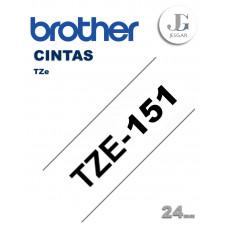 Cinta para Etiquetas TZe151 Brother