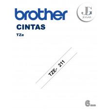 Cinta para Etiquetas TZe211 Brother