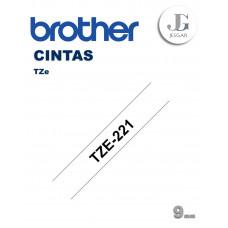 Cinta para Etiquetas TZe221 Brother