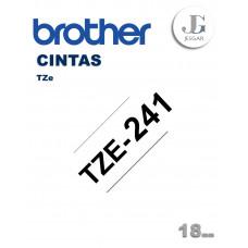 Cinta para Etiquetas TZe241 Brother