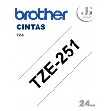 Cinta para Etiquetas TZe251 Brother