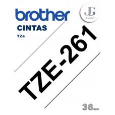 Cinta para Etiquetas TZe261 Brother