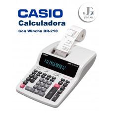 Calculadora con Wincha Contómetro DR-210 Casio