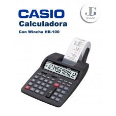 Calculadora con Wincha Contómetro HR-100TM Casio