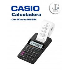 Calculadora con Wincha Contómetro HR-8RC Casio