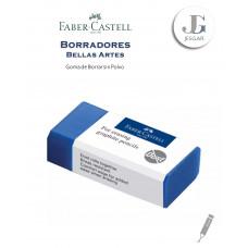 Goma de borrar sin polvo azul Bellas Artes FABER CASTELL