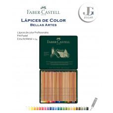 Lápices de Color Profesionales Bellas Artes Estuche Metal x24 Pitt Pastel FABER CASTELL
