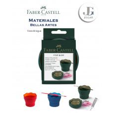 Vaso de Agua Verde oscuro Rojo Azul Bellas Artes FABER CASTELL
