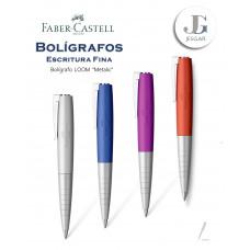 Bolígrafo Loom Metalic Plata Azul Lila Anaranjado Metálico Faber-Castell
