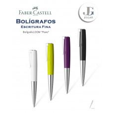 Bolígrafo Loom Piano Blanco Verde Lima Ciruela Negro Faber-Castell