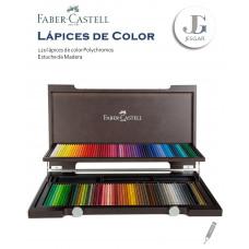 Lápices de Color Polycromos Estuche Madera x120  FABER CASTELL