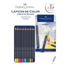 Lápices de color 12 Creative Studio Goldfaber Estuche de Metal FABER CASTELL