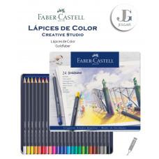 Lápices de color 24 Creative Studio Goldfaber Estuche de Metal FABER CASTELL