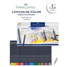 Lápices de color 36 Creative Studio Goldfaber Estuche de Metal FABER CASTELL
