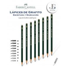Lápiz de Grafito 1 Castell 9000 Dureza 8B 7B 6B 5B 4B 3B 2B B FABER CASTELL