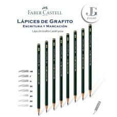 Lápiz de Grafito 1 Castell 9000 Dureza HB F H 2H 3H 4H 5H 6H FABER CASTELL