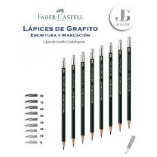 Lápiz de Grafito con Borrador 1 Castell 9000 Dureza 8B 7B 6B 5B 4B 3B 2B B FABER CASTELL