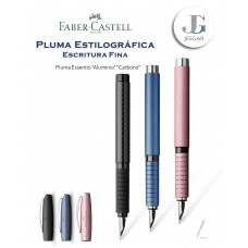 Pluma estilográfica Essentio Aluminio Carbono M Faber Castell