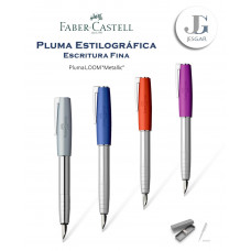 Pluma estilográfica Loom metal M Faber-Castell