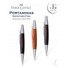 Portaminas e-motion madera de peral  1,4 mm marrón oscuro coñac negro  Faber-Castell