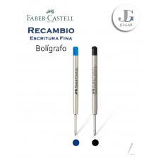 Recambio repuesto Bolígrafo Azul Negro Faber-Castell