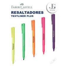 Plumón Resaltador Textliner PLUS Colores Varios Faber-Castell