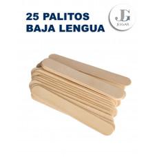 Palitos Bajalenguas x25 Pqt