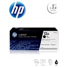 Toner HP 12A Dual Pack Black Negro Q2612AD 1010 1012 1015 1018 1020 Plus 1022 30153020 3030 3050 3050Z 3052 3055 M1005 M1913f