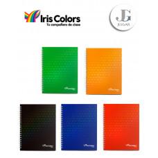 Cuaderno Espiral A4 x 160 hojas Tapa Dura Colores Varios - Iris Color