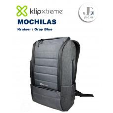 "Mochila Laptop 15.6"" Kruiser Gray Blue KlipXtreme"