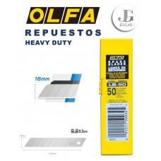 Repuesto de Cuchilla OLFA LB-50 18 mm Blister x50 Unidades | Arequipa | JESGAR