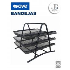 Bandeja Portapapel Rejilla Metálica de 3 Pisos - Ove
