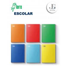 Cuaderno Escolar Cuadriculado Colores Varios Solido  x 48 hojas - LORO