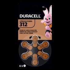 Pilas Hearing Aid 312 x 6 - Duracell