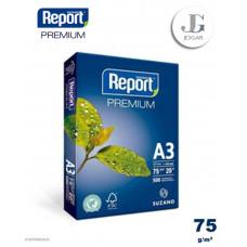 Papel Bond A3 75 grs Paquete x 500 - Report