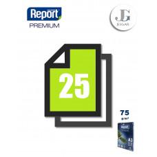 Papel Bond A3 75 grs Paquete x 25 - Report