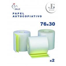 Contómetro Autocopiativo 76 x 30 mts x 13 x 2 Original + 1 Copia  (BCO-AMR) - Gallo