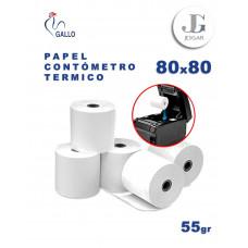 Papel Contómetro Térmico 55 grs 80 x 80 - Gallo