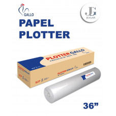 """Papel Plotter Rollo A0 36"""" 45m GALLO Arequipa"""