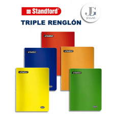 Cuaderno Triple Renglón 80h Standford
