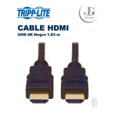Cable HDMI de Alta Velocidad Video Digital con Audio UHD 4K Negro 1.83 m  TrippLite
