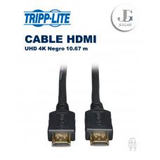 Cable HDMI de Alta Velocidad Video Digital con Audio UHD 4K Negro 10.67 m  TrippLite