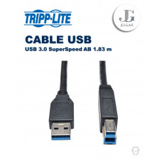Cable USB 3.0 SuperSpeed AB Negro 1.83 m TrippLite