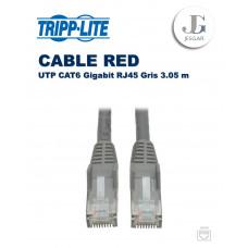 Cable de RED Ethernet UTP Moldeado Snagless Cat6 Gigabit RJ45 Gris 3.05 m TrippLite